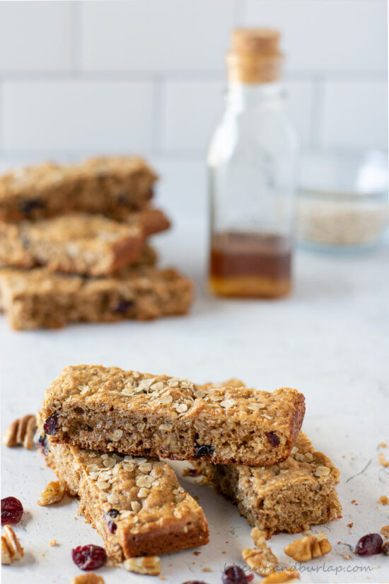breakfast bars in stick with more behind