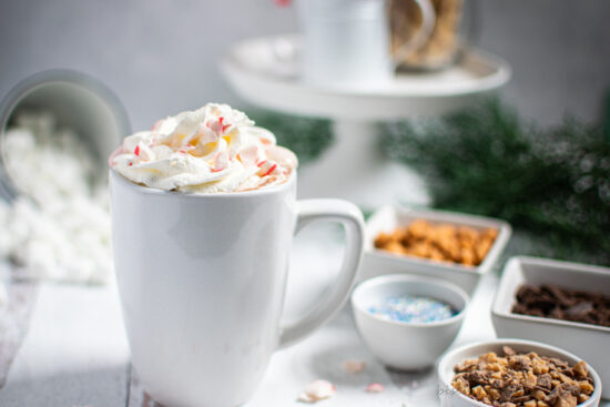 homemade hot chocolate bar