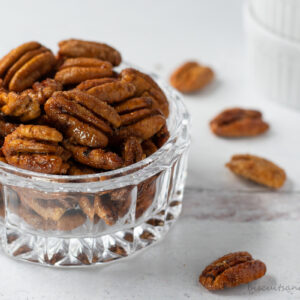bowl of spiced pecans