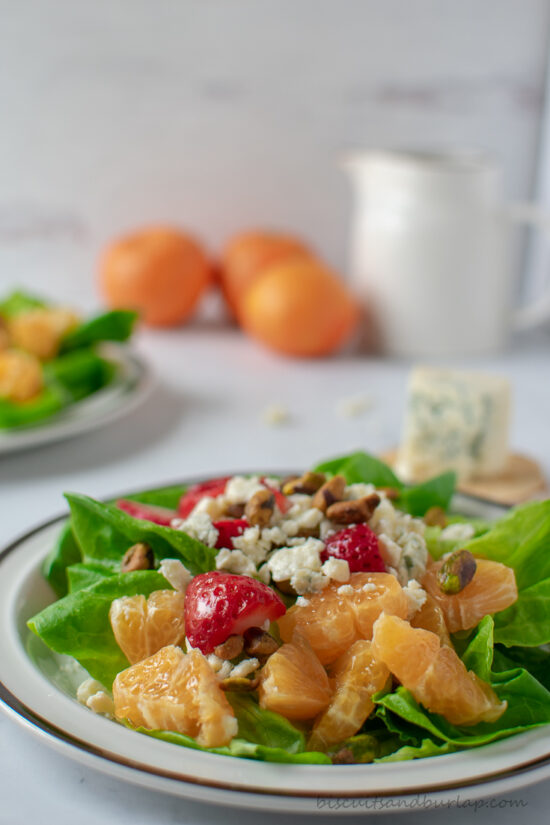 salad with clementines & strawberries