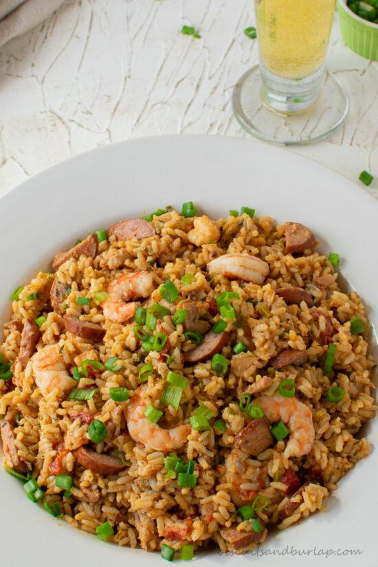 bowl of best jambalaya recipe