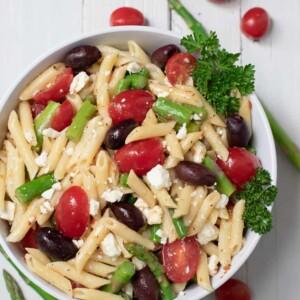 pasta salad with asparagus