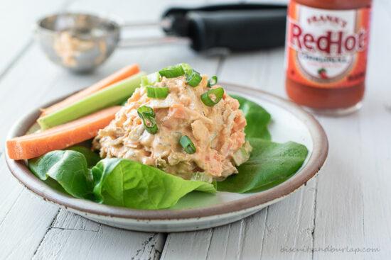 rotisserie chicken salad with hot sauce