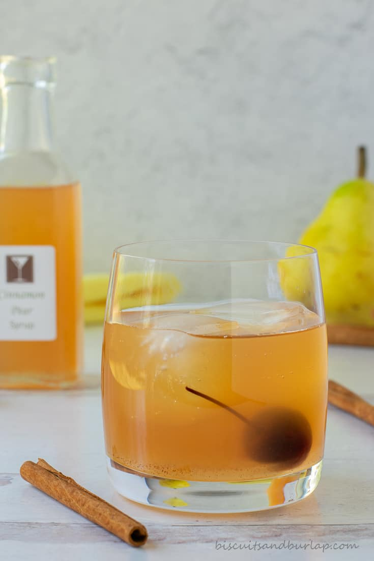 old fashioned made with syrups for cocktails