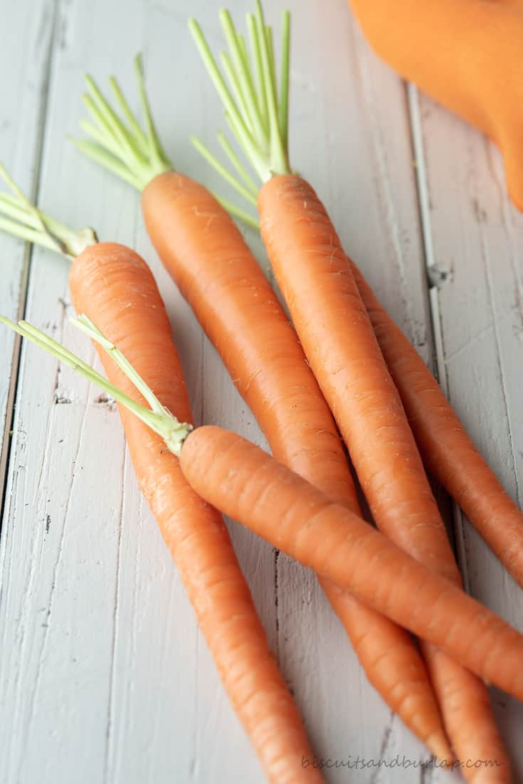 whole carrots for smoked veggies