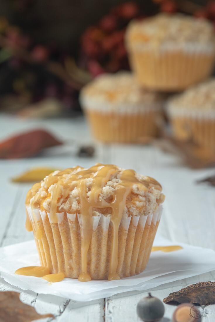 sweet potato muffin with praline glaze